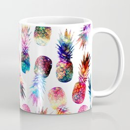 watercolor and nebula pineapples illustration pattern Coffee Mug