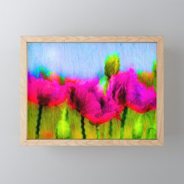 Abstract : Painted poppies Framed Mini Art Print