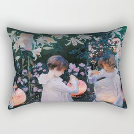 Carnation, Lily, Lily, Rose Rectangular Pillow