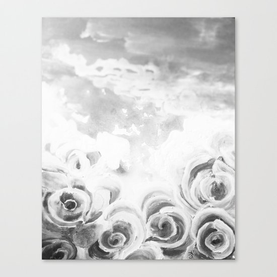 Fading Roses Silver Lining Canvas Print