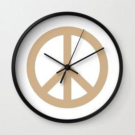 Peace (Tan & White) Wall Clock