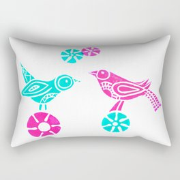 Greeting in Birdsong Rectangular Pillow