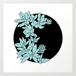 succulent graphic Art Print