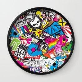 Stickerbomb Wall Clock