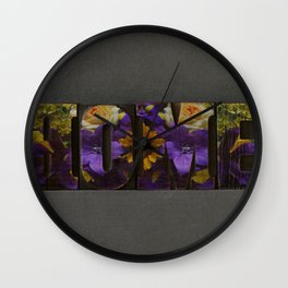 Floral HOME Wall Clock