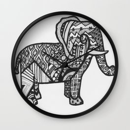 Elephant Entangled Wall Clock