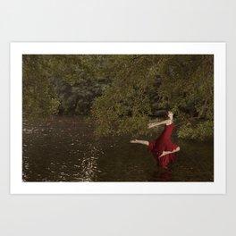 red swan Art Print