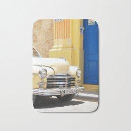 33. Vintage Yellow car, Cuba Bath Mat
