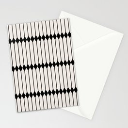 Minimal Geometric Pattern - Black and White Stationery Cards