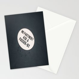 No Partner? Ask a Passer-By Stationery Cards