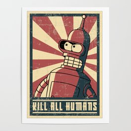 Kill all humans Poster