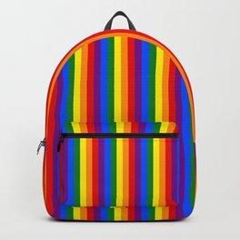 Mini Verticle Gay Pride Rainbow Beach Stripes Backpack