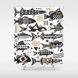 Boho Fishes Shower Curtain