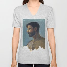 BRAD, Semi-Nude Male by Frank-Joseph Unisex V-Neck