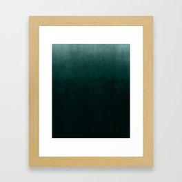 Ombre Emerald Framed Art Print