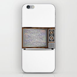 Old Television Static iPhone Skin
