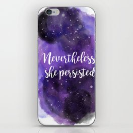 Celestial Nevertheless, she persisted iPhone Skin
