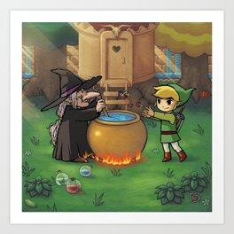 Zelda - Magic Shop Art Print