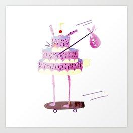 Hobo Bunny Cake Art Print
