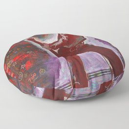 Rock and Roll in Red Floor Pillow