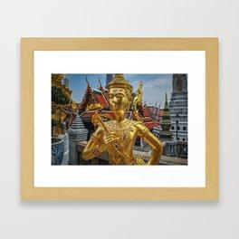 Golden Kinnaris Statue Framed Art Print