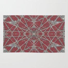 Snowflake Red Rug