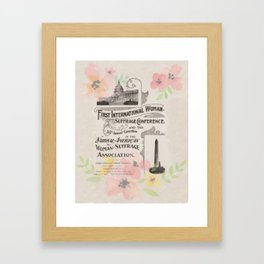 First International Woman Suffrage Conference - 1902 Framed Art Print