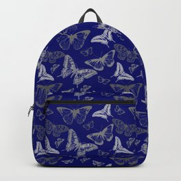 Blue Butterfly Pattern Backpack