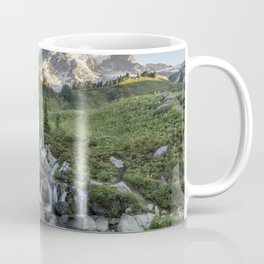 Early Morning Light on Mt Rainier above Edith Creek Coffee Mug