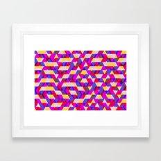 Myth Syzer - Neon (Pattern #12) Framed Art Print