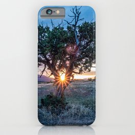 Sun Tree Hammock // Grainy Night Sunset Rays Hiking Landscape Photograph Wilderness Beauty iPhone Case