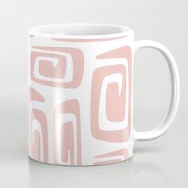Mid Century Modern Cosmic Abstract 613 Dusty Rose Coffee Mug