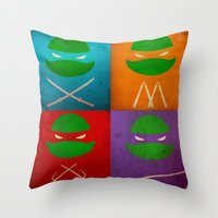 tmnt Throw Pillows featuring TMNT Collection by fabvalle