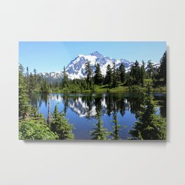 Mt. Shuksan and Reflection Metal Print