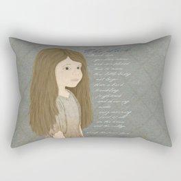 Portrait of Cosette from Les Misérables Rectangular Pillow