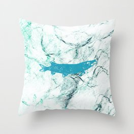pike in the net Throw Pillow