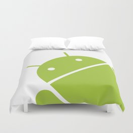 Small Android robot Duvet Cover