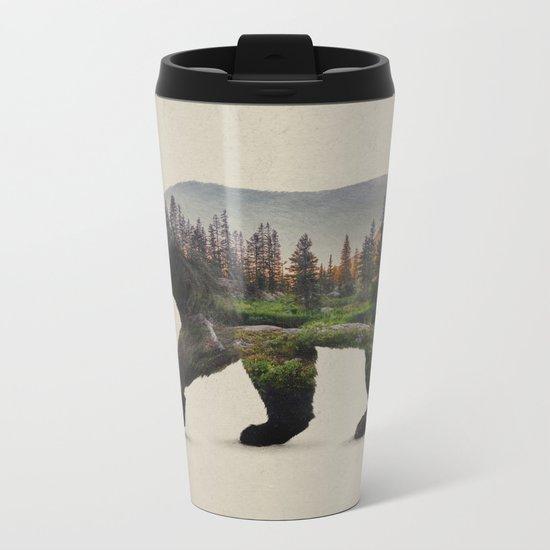 The North American Black Bear Metal Travel Mug