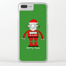 Santa Claus Clear iPhone Case
