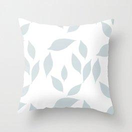 Autumn Leaves Pattern #7 #LightBlueGrey #White #foliage #decor #art #society6 Throw Pillow