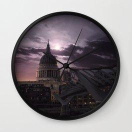 St Pauls full moon, London - United Kingdom Wall Clock