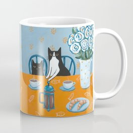Cats and a French Press Coffee Mug