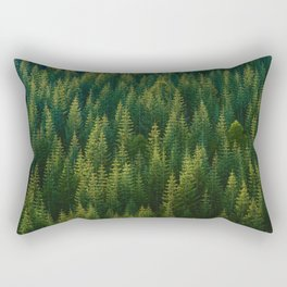 The Green Forest (Color) Rectangular Pillow