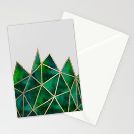 Emerald & Gold Geometric Stationery Cards