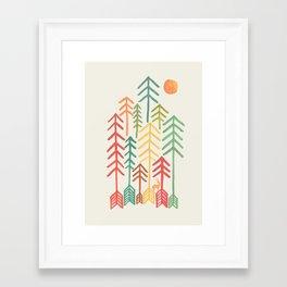 Arrow forest Framed Art Print