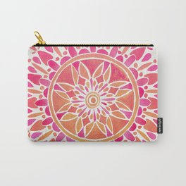 Mandala – Pink Ombré Carry-All Pouch