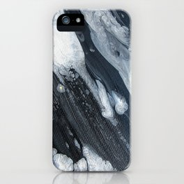 untitled (3189 blck and white) iPhone Case