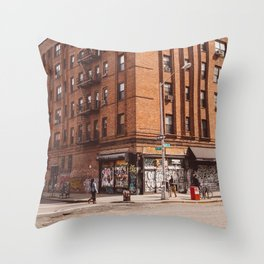 East Village Corner II Throw Pillow
