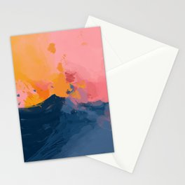 Mountain Peaks Amidst The Sherbet Sky Stationery Cards