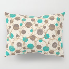 Brown and turquoise Pillow Sham